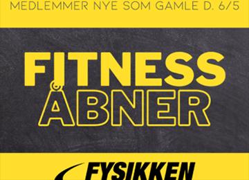 Fitness Åbner 6/5